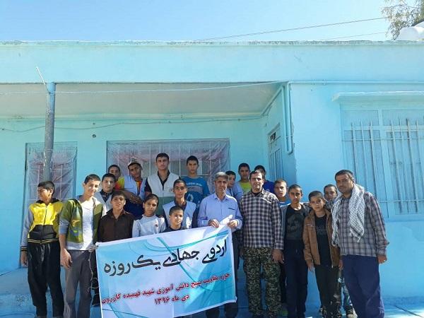یک روز خدمات رسانی جهادی با دانش آموزان کازرونی