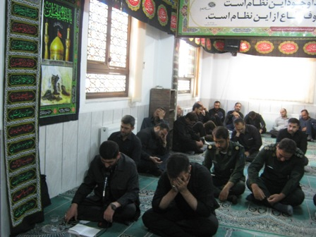 گزارش تصویری مراسم عزاداری دهه ی اول محرم الحرام در سپاه ناحیه احمدبن موسی(ع)سال96