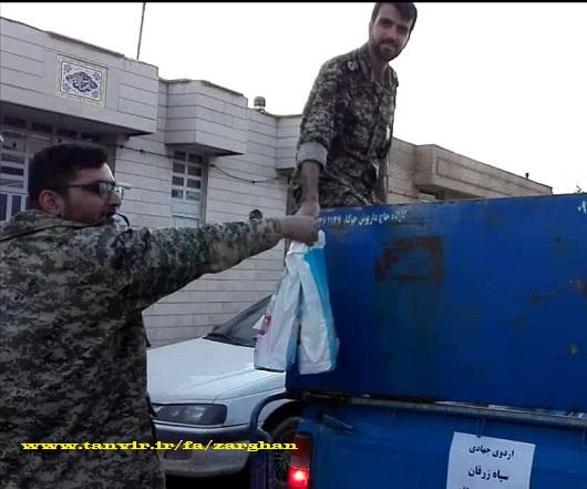 کمک به سیل زدگان شیراز